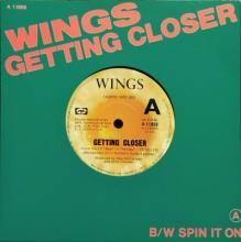 GETTING CLOSER / SPIN IT ON   PAUL MCARTNEY AND WINGS   7 inch single   Music 4 Collectors