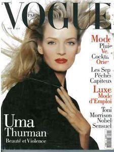 Vogue Paris November 1994   #vintage #magazine #paris #umathurman