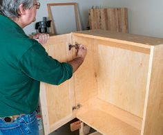 Building Plywood Upper Kitchen Cabinets