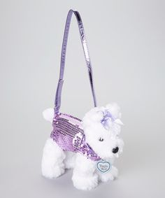 Take a look at this White   Purple Scotty Dog Purse by Poochie   Co. 8a5fcf6815