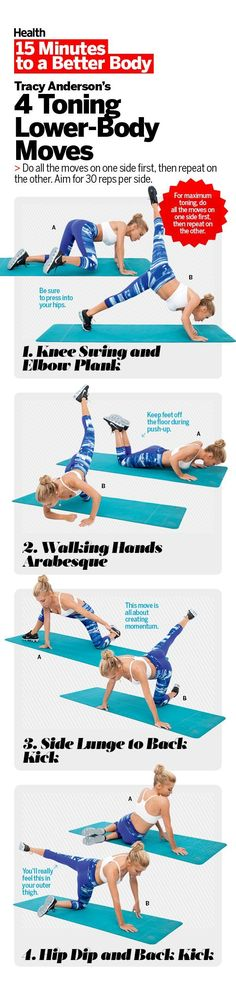 15 minutes to a better body with Tracy Anderson's 4 toning lower-body moves | Health.com
