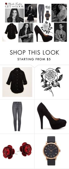 """Pheobe Tonkin"" by selena-sok on Polyvore featuring Aerie, Forever 21, Paige Denim, Michal Negrin, Marc Jacobs, GetTheLook, beautiful, blackandwhite and casualoutfit"