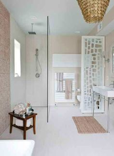 The master bath, designed by Grossmueller's Design Consultants, Inc.
