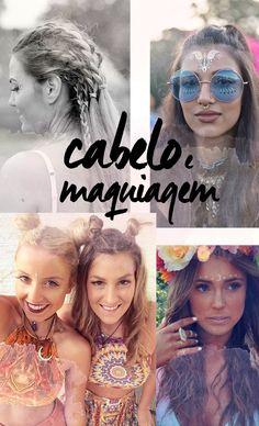 Festival fashion l Coachella, Splendour in the grass, Lollapalooza l Boho, rocker, military l flash tattoo, braids, makeup