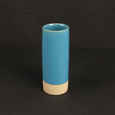Les Guimards Small Cylinder Vase, Aqua