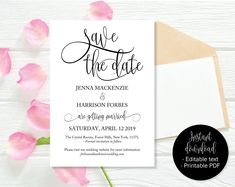the 12 best wedding save the date templates to instantly download