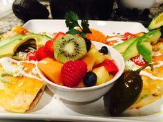 "Ready dinner  Quesadillas 50/50 Rice & fruit  By continental kitchen          ""Sebascocina """