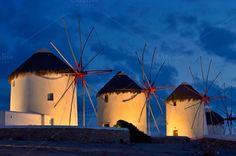 Check out Mykonos windmills by jcfmorata - Photography on Creative Market