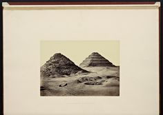 """Francis Frith, """"The Pyramids of Sakkarah"""" from """"Lower Egypt, Thebes and the Pyramids"""" (1862)"""