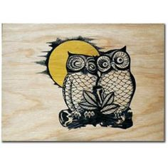 Two Owls Wall Art