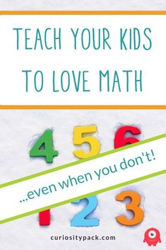 Teach Your Kids to Love Math (Even When You Don't) - Curiosity Pack Educational Activities For Kids, Math Activities, Steam Activities, Math Resources, Love Math, Fun Math, Teaching Kids, Kids Learning, Kindergarten Readiness