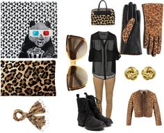 """print animal 2"" by zairabarcala ❤ liked on Polyvore"