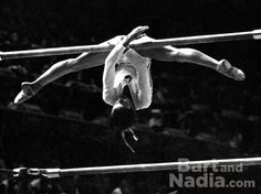 Nadia Elena Comăneci is a Romanian gymnast, winner of three Olympic gold medals at the 1976 Summer Olympics in Montreal and the first female gymnast to be awarded a perfect score of 10 in an Olympic gymnastic event. It was amazing to watch!