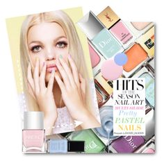 #Pastel Nails - Multi-Shade Pretty Pastel Nails by nikkisg on Polyvore featuring beauty, Yves Saint Laurent, Christian Dior, Nails Inc. and pastelnails
