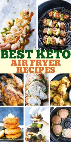 Amazing list of BEST KETO air fryer recipes for beginners and for advance users. - Air fryer Healthy RecipesAmazing list of BEST KETO air fryer recipes for beginners and for advance users. We love this low carb recipes, from kebabs and shrimp to Air Fryer Recipes Low Carb, Air Fryer Dinner Recipes, Air Fryer Recipes Shrimp, Low Carb Shrimp Recipes, Best Low Carb Recipes, Ketogenic Recipes, Paleo Recipes, Easy Recipes, Lunch Recipes