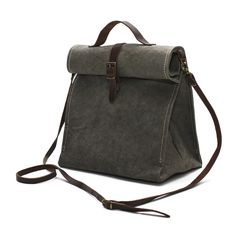 Uashmama Lunch Bag Dark Grey - The Future Kept