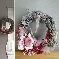 Inspiration-Shabby chic Grapevine Wreath, Grape Vines, Christmas Wreaths, Shabby Chic, Holiday Decor, Inspiration, Home Decor, Art, Christmas Swags