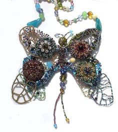 Butterfly necklace High fashion bib necklace One of a by Monikque, $699.00