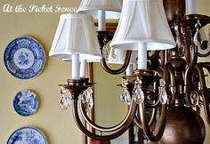 Paint those brassy light fixtures (the easy way)