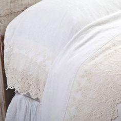 Pom Pom at Home - ANNABELLE FLAT SHEET - CREAM