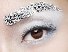 by Huljak Stephen on Behance White Eyeshadow, Images Esthétiques, Makeup Inspiration, Makeup Inspo, Makeup Ideas, Eye Art, Costume Makeup, Eye Make Up, Silver Diamonds