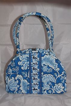 3a3e206f6265 Vera Bradley Blue Lagoon Kisslock Shoulder Bag Pures New  VeraPelle   Satchel Blue Lagoon