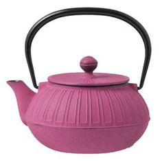 Nambu Cast Iron Pot, 'Kiku' 0.8L, Pink