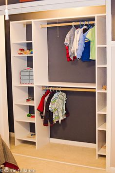 DIY Closet Organization easy to make your own closet storage centers