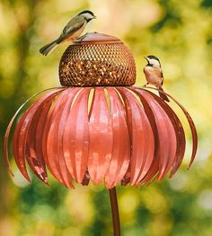 Steel Coneflower Bird Feeder by Desert Steel on Scoutmob