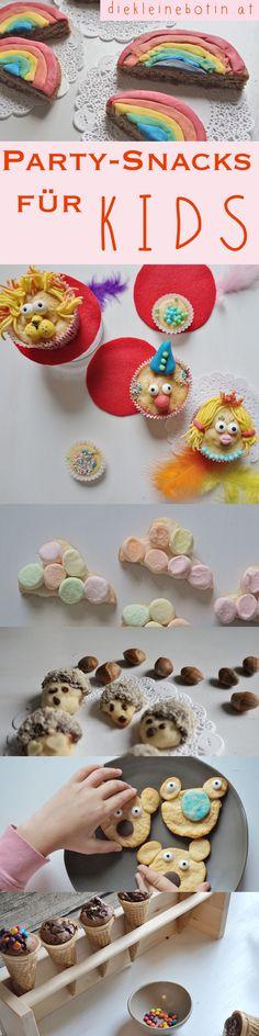 """bunte Snacks und Kuchen, Muffins, Kekse und einfache Ideen für Kinder und Geburtstags-Partys Rezept und Ideen von Mamablog """"die kleine botin"""" Backen und verzieren mit Fondant, Zucker und bunten Streuseln"""
