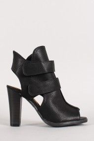 Wild Diva Lounge Melva-01 Strappy Cut Out Open Toe Heel