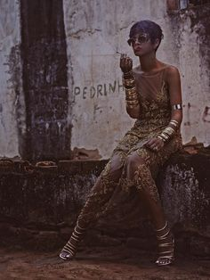 Who What Wear Rihanna Vogue Brazil May 2014 Photographer Mariano Vivanco Styled by Yasmine Sterea Cover Short Pixie Cut Hair Beauty Matte Re...