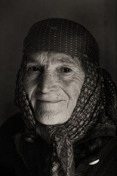 Albania, old woman, wrinckles, lines of life, beauty, powerful face, intens eyes, portrait, photo b/w.