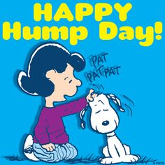 Happy Hump Day!  Lucy and Snoopy