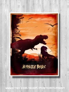 Jurassic Park travel poster, Jurassic Park, Isla Nublar Travel poster, Dinosaur poster, Retro movie art, Minimalist poster, Steven Spielberg