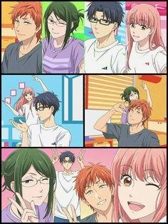 Anime Couples Wotaku no koi wa Manga Anime, Otaku Anime, Anime Art, Koi, Manga Love, I Love Anime, Cosplay Steampunk, Tsurezure Children, Real Anime