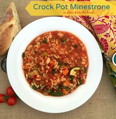 Crock Pot Minestrone #FallForFlavor -- Giveaway Included | An Affair from the Heart