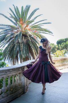 """Burda style 50ties - Vintage Kleid - tiefe Taille, Schleifen - Aus dem Sonderheft """"burda vintage - die fantastischen fifties"""""""