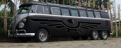 what a gorgeous six wheeled VW bus!