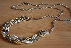 Tuto - Un collier tressé en perles de rocaille