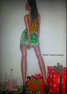 """Paper Fashion Sketches: -""""A girl should be two things: Classy and fabulous..."""