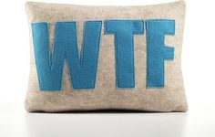 WTF Decorative Pillow modern bed pillows