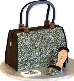 Leopard Skin Bag & Shoe Cake