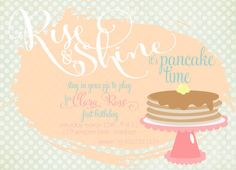 Pancakes and Pajamas Party invitation. 5x7 set by RuffDraftPapers, $1.70