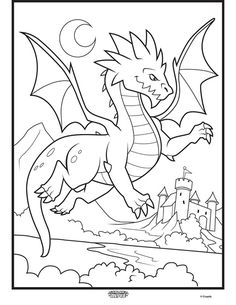 Color Alive Mythical Creatures Dragon on crayola com is part of Dragon coloring page - AppCheck Mythical Creatures Art, Mythological Creatures, Detailed Coloring Pages, Coloring Pages For Kids, Animal Coloring Pages, Coloring Books, Coloring Sheets, Dragon Coloring Page, Crayola