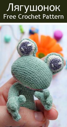 Ideas Doll Tutorial Free Pattern Toys For 2019 Crochet Animal Patterns, Stuffed Animal Patterns, Crochet Patterns Amigurumi, Amigurumi Doll, Crochet Animals, Crochet Toys, Crochet Frog, Cute Crochet, Diy Crochet Accessories