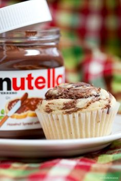 Nutella Cupcake #cupcake  I just bought Nutella...gotta make some of these recipes now!