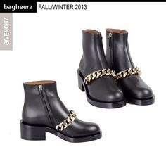 From GIVENCHY: Chain Leather Ankle Boot A/W 2013 / Tronchetto in Pelle con Catena A/I 2013. Buy on: http://ow.ly/olk4V