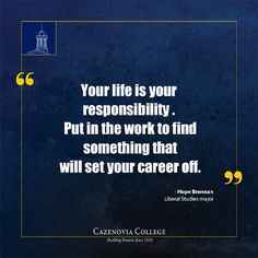 "Your life is your responsibility. Put in the work to find something that will set your career off.""- Hope Brennan Check out the Working Wildcats blog entry focusing on Hope's current internship with ""PinsandPalettes"" fashion and beauty blog. Www.cazenovia.edu/blogs/path-success/working-wildcats #CazenoviaCollege #WisdomWednesday"