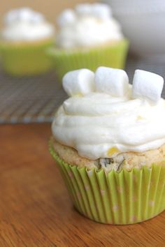 Watergate Salad Cupcakes (i.e. pistachio cupcakes with pineapple buttercream frosting). I may cheat on these and make the pistachio pudding cupcake recipe I pinned a month ago, and just make this pineapple buttercream to top them. Not that this recipe as written doesn't sound delicious, too.